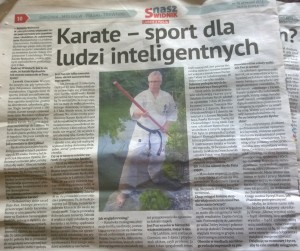 sensei Leszek w gazecie